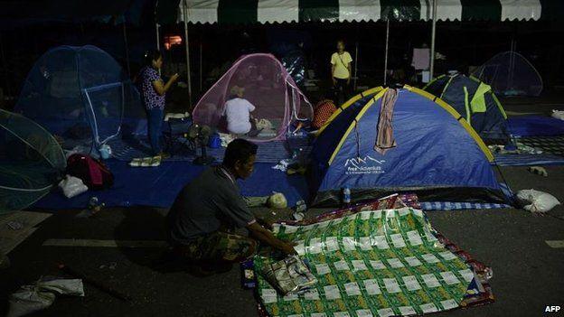 Anti-government protesters in Bangkok, 22 May