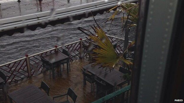 Flooding at a Penarth restaurant