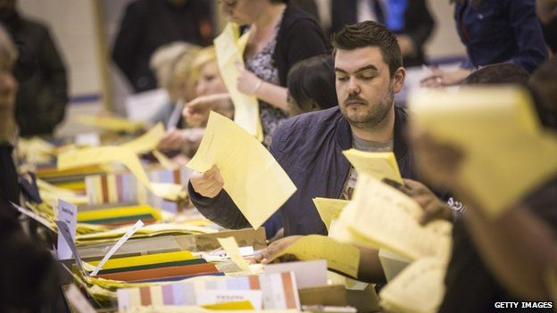 Votes being counted in Croydon