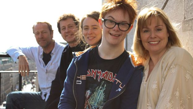 Daniel Laurie with fellow cast members of Barnaby Rudge