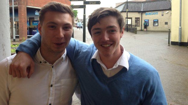 Mathew and Sam are 18 and from Carmarthen