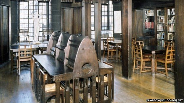 Mackintosh Library Image Copyright Glasgow School