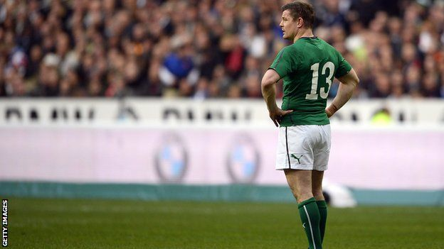 O'Driscoll in action for Ireland