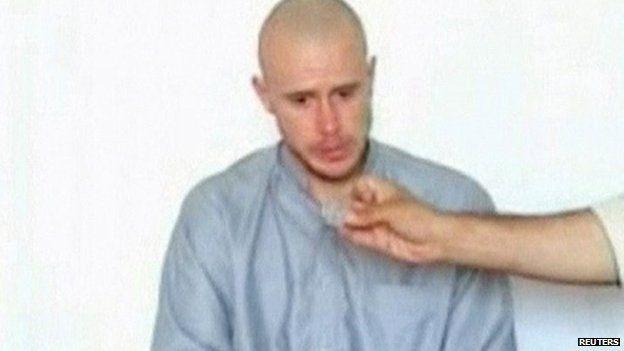 Still image taken from video of Sgt Bowe Bergdahl 19 July 2009