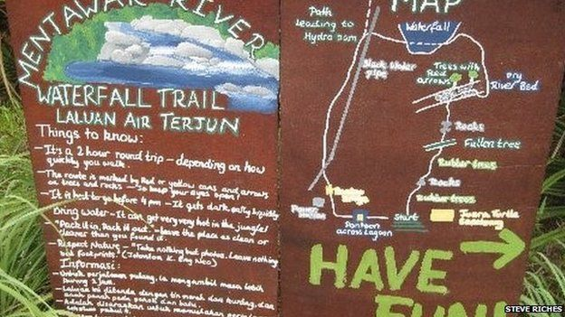 Map of the jungle trek