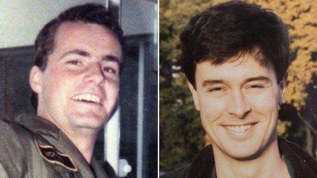 Flt Lt Richard Cook, left, and Flt Lt Jonathan Tapper