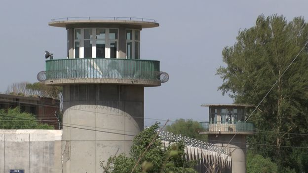 This picture taken by BBC crew, shows the alleged prison holding Miao Deshun