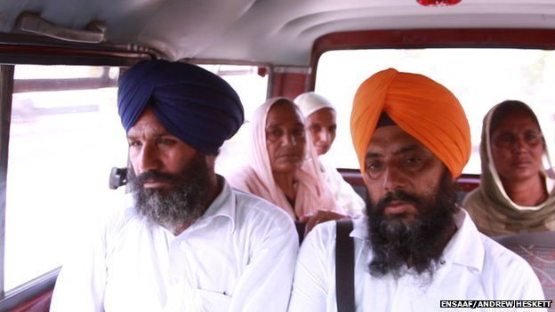 Satwant Singh Manak with some of the relatives of missing people he is fighting his legal case with
