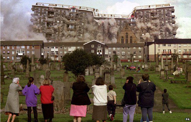 Demolition of flats