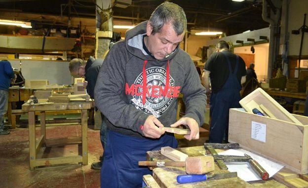 Galgael carpenter at work
