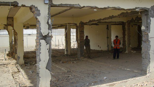 One prison building has already been demolished following flood damage