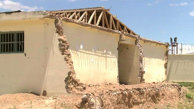 Several prison buildings were rendered useless after cracks appeared in the walls