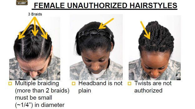Three banned hairstyles