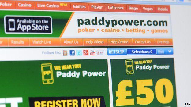 Paddy Power webpage