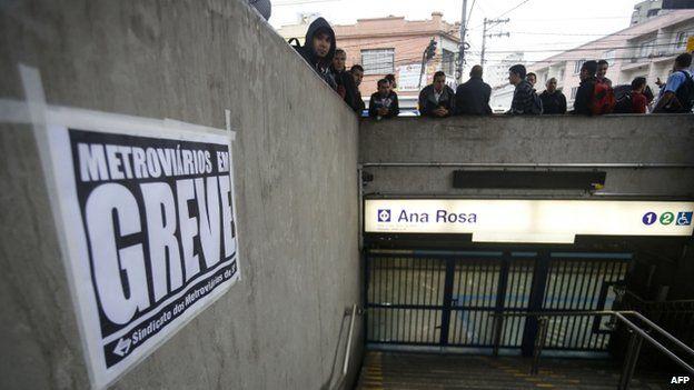 Ana Rosa tube station closed by strike