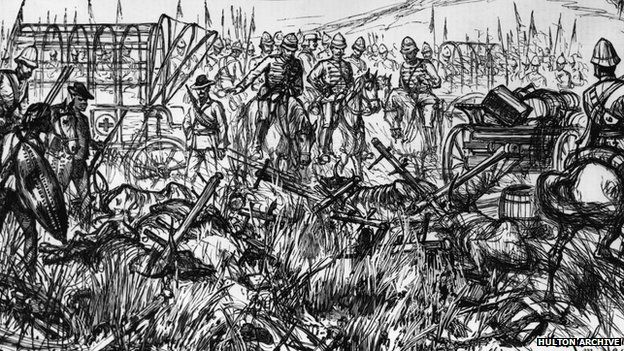 A drawing by war artist Melton Prior. (Photo by Hulton Archive/Getty Images)