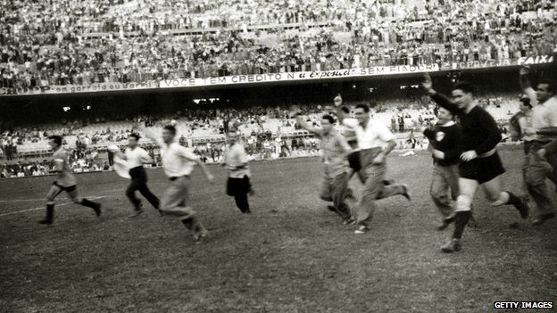 Image result for brazil uruguay 1950