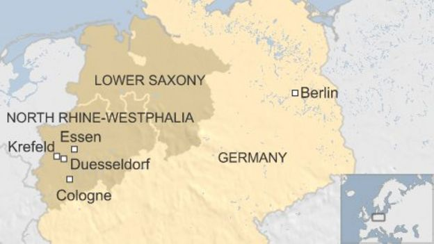 Germany Storms Six Dead In North RhineWestphalia BBC News - Germany map krefeld