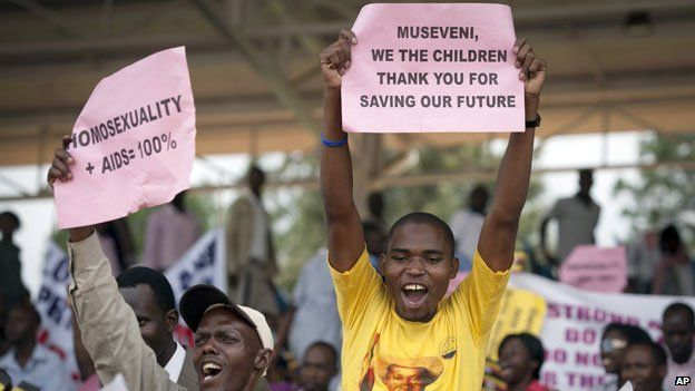 Supporters in Kampala