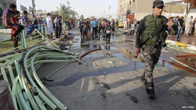 Site of suicide attack on a Shia gathering in Baghdad, 11 June