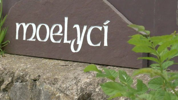 Moelyci Environmental Centre sign