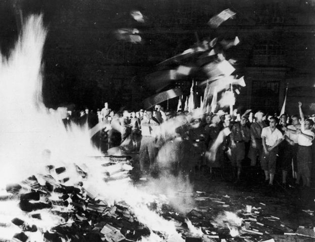 Book burning in Berlin 1933