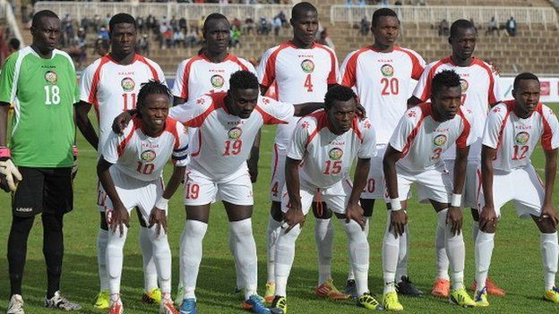 Kenya's national team - November 2013