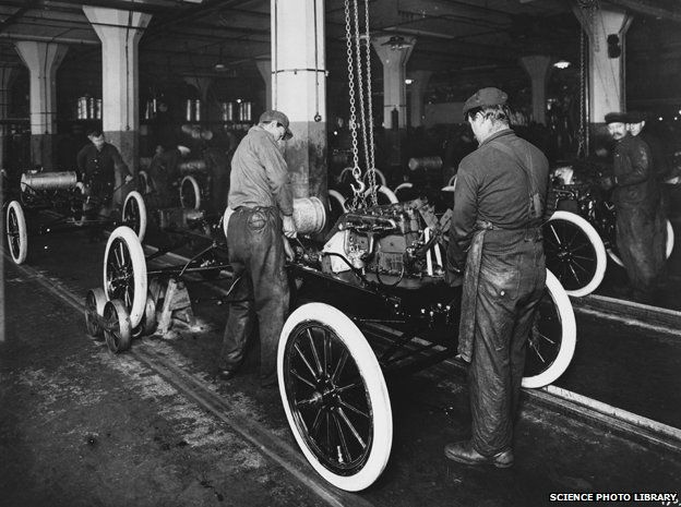 Ford production in the early 1900s