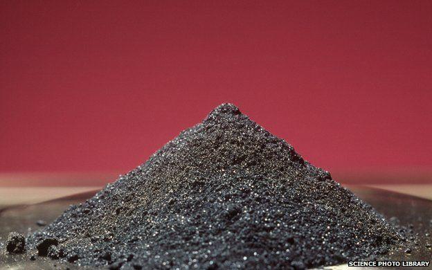 Pile of Vanadium oxide