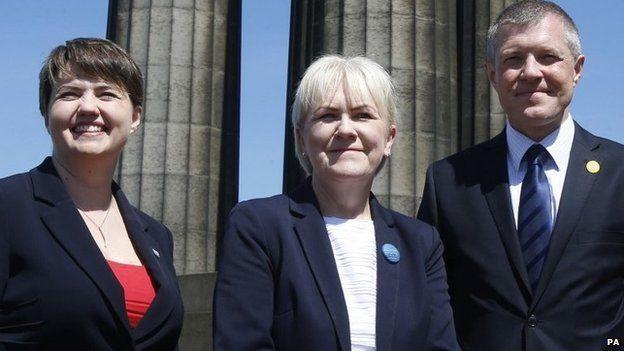 Ruth Davidson, Johann Lamont and Willie Rennie