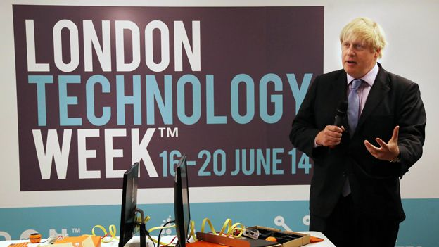 Boris Johnson at London Technology Week launch