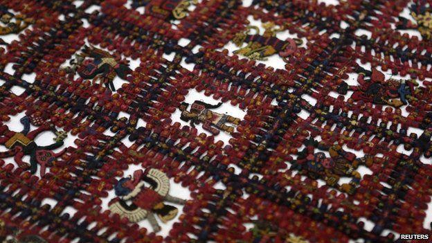 Pre-Inca Peruvian shroud repatriated from Sweden