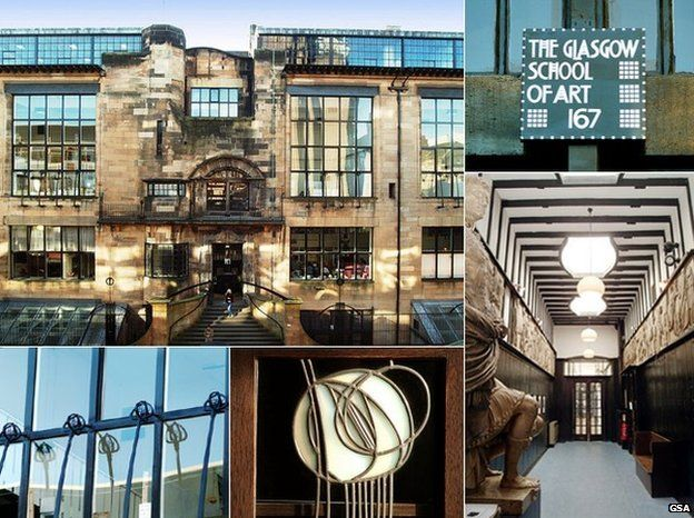 Mackintosh Building GSA Image Copyright Caption Glasgow School