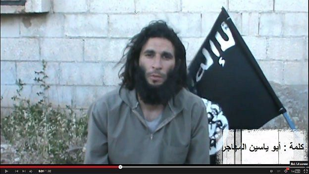 Screenshot from an Isis video posted on YouTube on 17 June, calling for support for the group