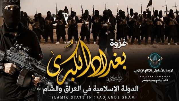 """""""Baghdad's big battle"""" - an image posted on a pro-Isis Twitter account"""