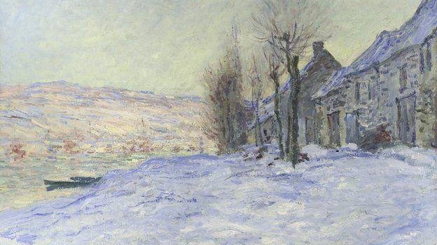Claude Monet's Lavacourt under Snow (1878-81) is also part of the exhibition