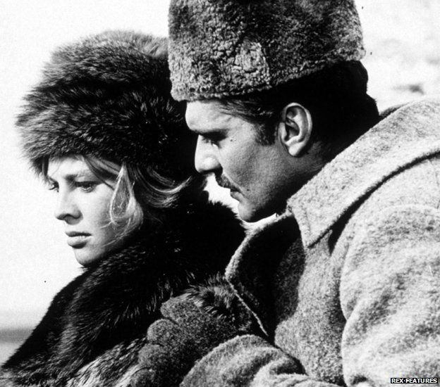 Julie Christie and Omar Sharif in the 1965 film version of Doctor Zhivago