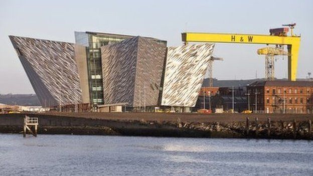 Titanic visitors centre in Harland and Wolff shipyard, Belfast