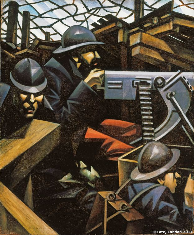 La Mitrailleuse, 1915. Christopher Richard Wynne Nevinson 1889-1946. Presented by the Contemporary Art Society