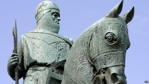 Robert the Bruce has been immortalised in statue on monument hill