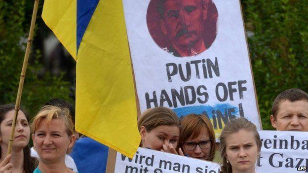 Anti-Putin protesters in Vienna. Photo: 24 June 2014