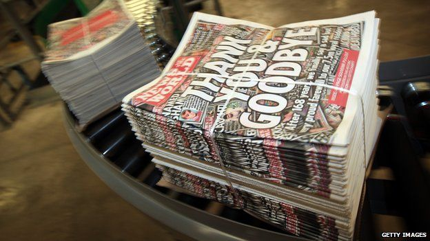 The final News of the World edition coming of the presses