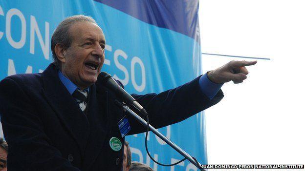 Lorenzo Pepe speaking at a rally