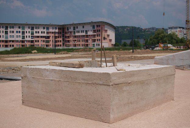 Plinth in Sarajevo