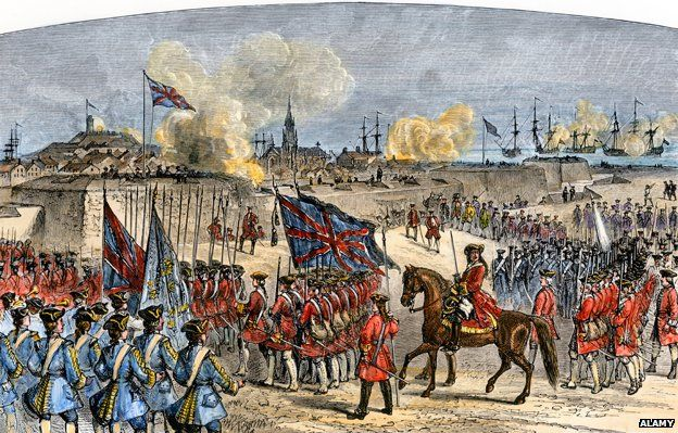 Surrender of Louisbourg to the British under General Jeffrey Amherst, French and Indian War