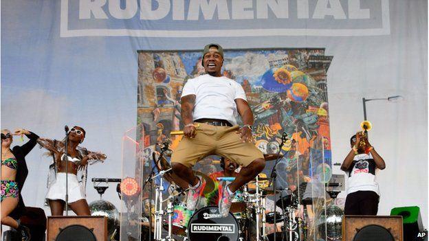 Rudimental on stage at Glastonbury