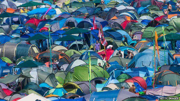 Tents at Glastonbury
