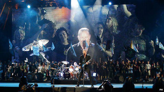Metallica at Glastonbury