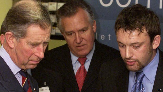 The Prince of Wales with Peter Hain, then Welsh Minister