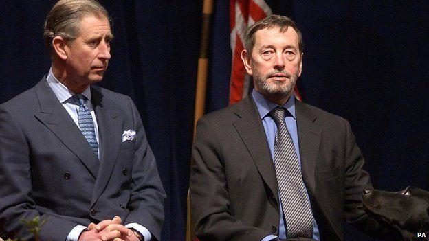 Prince Charles with David Blunkett